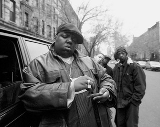 The Notorious B.I.G. in Brooklyn in 1995. Foto: Clarence David / Getty