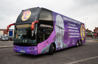 De bus van Paul Nuttall. Foto: Jack Taylor / Getty Images