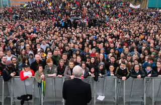 Jeremy Corbyn (Labour) houdt een speech. Foto: Ian Forsyth / Getty Images