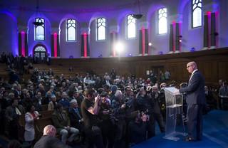 Paul Nuttall (UKIP) houdt een toespraak. Foto: Ben Cawthra / eyevine