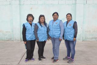 Het comité van vrouwen van mijnwerkers. Foto: Rochi Leon (voor De Correspondent)