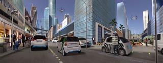 Zo zou 'de slimme stad' eruit kunnen zien volgens Blake Robinson en Karl Schulschenk.