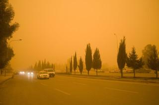 Een zandstorm in Noord-Irak. Foto: Kamaran Najm / Metrography