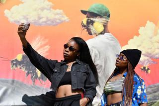 Festivalgangers tijdens Camp Flog Gnaw 2017. Foto: Frazer Harrison / Getty Images