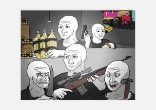 Feels Guy lijkt een met MS Paint geschilderd poppetje. In dit geval zien we vier Feels Guys zich klaarmaken om een aanslag te plegen op een nachtclub. Vermoedelijk is deze meme na de aanslag op een nachtclub in Orlando, Florida (juni 2016) gemaakt, waarbij 49 mensen werden gedood.