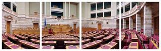 Griekenland, Βουλή των Ελλήνων. Uit de serie Parliaments of the European Union door Nico Bick.