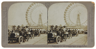 De auto-optocht tussen New York en St Louis tijdens de Louisiana Purchase Exposition. Foto: C. H. Graves