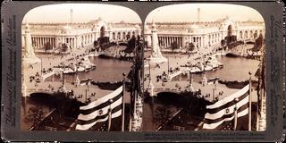 Uitzicht vanaf het elektriciteitsgebouw over het noordoosten van St. Louis tijdens de Wereldtentoonstelling van 1904. Foto: Underwood and Underwood