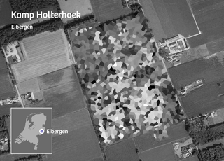 Google Maps laat geen details zien van Kamp Holterhoek.