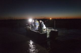 Glasaalvissers bij Cordemais, Frankrijk. Foto: Florian Buettner