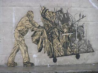 Muurschildering door Swoon. Foto: LD