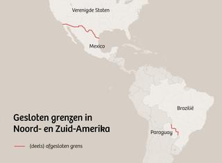 Te zien zijn muren, hekken en zandwallen die grenzen ondoordringbaar moeten maken. De grensbarrières volgen niet altijd de landsgrenzen en liggen ook niet altijd langs de hele grens.