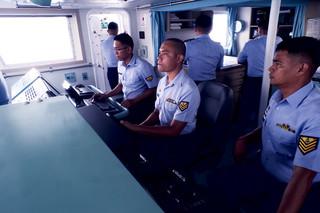 De Filipijnse kustwacht patrouilleert in de zee rondom de Sulu-eilanden op zoek naar leden van Abu Sayyaf. Foto: Andreas Staahl, 22 september 2018