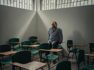 De Venezolaanse professor Valmore Bermudez vluchtte meer dan twee jaar geleden uit Venezuela. Hij geeft nu les aan de Simón Bolívar-universiteit in Cúcuta, Colombia. De aanpassing aan een nieuwe cultuur ervaarde hij als zeer lastig. Foto: Greg Kahn, 2018
