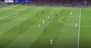 Vier man van Ajax staan 'tussen de linies'. (Bron: Veronica)
