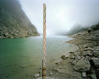 Onderzoek naar de gevolgen van het smelten van gletsjers LIX: Parónmeer, Peru, 2008. Uit de serie 'A history of the future' van Susannah Sayler en Edward Morris.