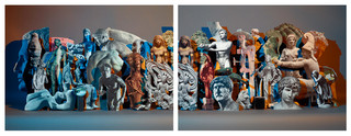 Sculptures. Uit de serie HORIZON/S door Matt Lipps /Josh Lilley, London, Marc Selwyn, Los Angeles and Jessica Silverman Gallery, San Francisco.