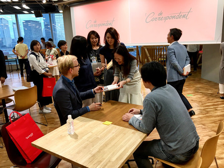 In Tokio, een boekenfestival in Edinburgh, een stadstheater in Stockholm en op het podium van de grote TED-conferentie in Vancouver.