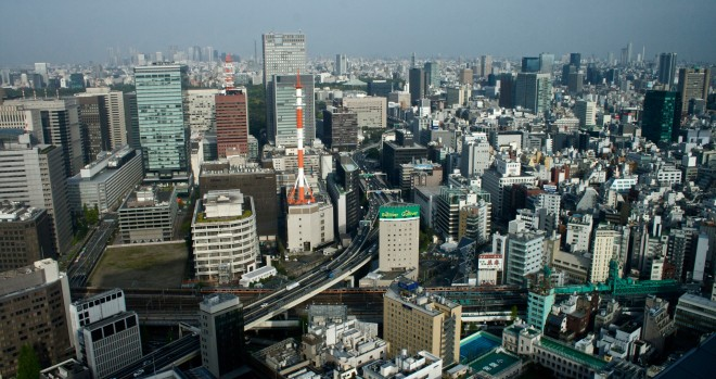 Skyline van Tokio. Foto: Auke Hulst
