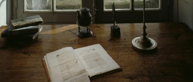 De schrijftafel van Honoré de Balzac. Foto: Getty Images