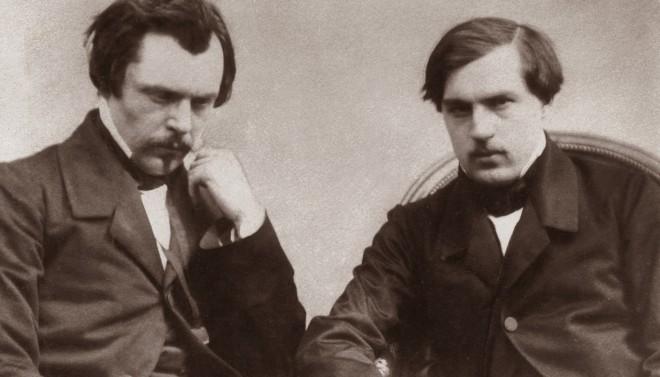 De broers Jules en Edmond De Goncourt in 1860. Foto: Hollandse Hoogte
