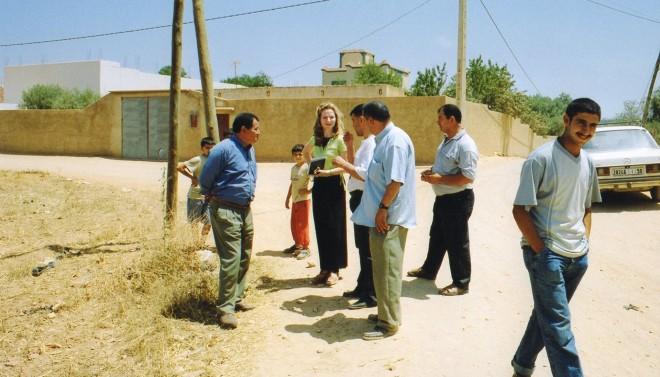 Jutta Chorus aan het werk in Marokko