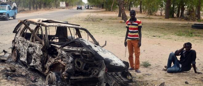 Maiduguri in Nigeria na een aanslag van Boko Haram in maart 2014. Foto: ANP
