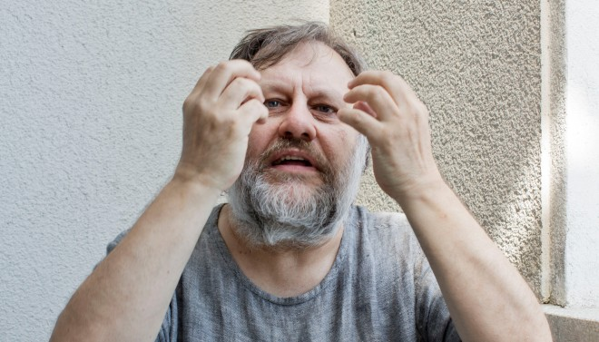 De filosoof en cultuurcriticus Slavoj Žižek. Foto: David Levene/Hollandse Hoogte