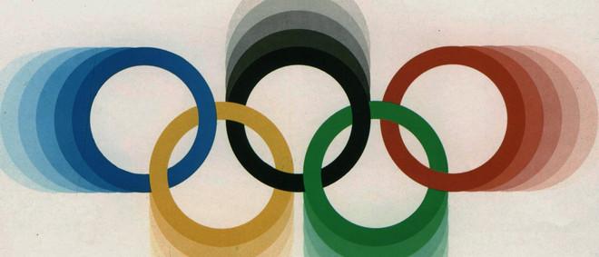Detail uit de poster van de Olympische Spelen in Montréal in 1976.