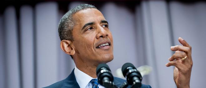 President Obama geeft op 5 augustus 2015 een speech waarin hij de  de nucleaire deal met Iran toelicht. Foto: Pete Marovich/EPA