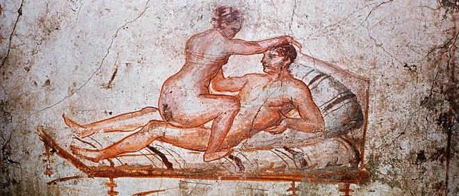 Fresco in Pompeii (Italië, 1ste eeuw na Christus).