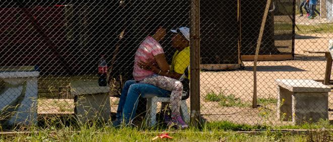 Tijdens de bezoekdag in de Punta de Rieles-gevangenis in Uruguay. Foto: Ynske Boersma