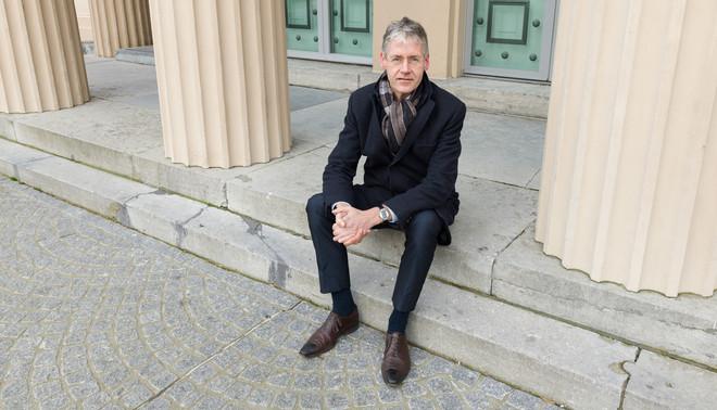 Arie Slob voor museum de Fundatie. Foto: Ivo van der Bent (voor De Correspondent)