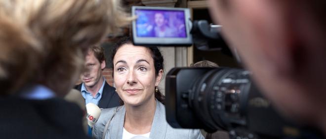Den Haag, 2010 - Na afloop van een gesprek met informateur Uri Rosenthal stond Femke Halsema de pers op het Binnenhof te woord. Foto: Martijn Beekman/ANP