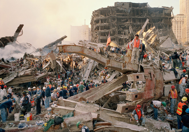 New York, Ground Zero, 11 september 2001. Foto: Frank Schwere / Getty