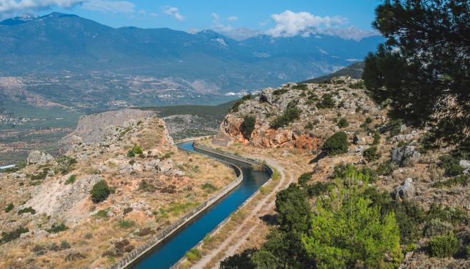 Irrigatiekanaal in Delphi, Griekenland. Foto: Deyan Georgiev / ANP