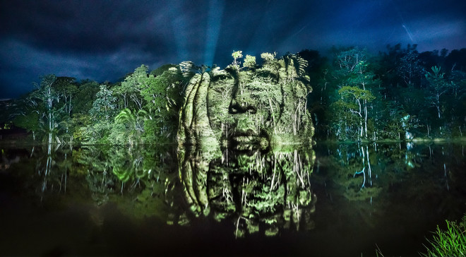Uit de serie The Blood Forest van fotograaf Philippe Echaroux