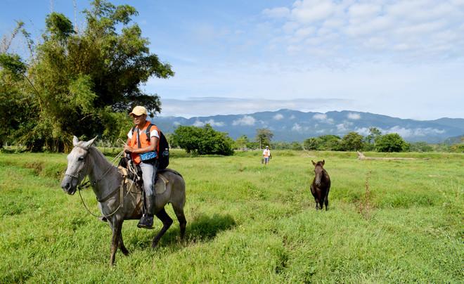 Bosbeschermers uit een Afro-Colombiaanse gemeenschap op pad in het uiterste noordwesten van Colombia. Alle foto's zijn door Bart Crezee gemaakt tijdens zijn bezoek aan de gemeenschap.