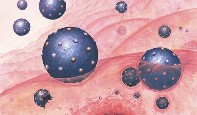Een illustratie van het hepatitis C-virus. Beeld: ANP