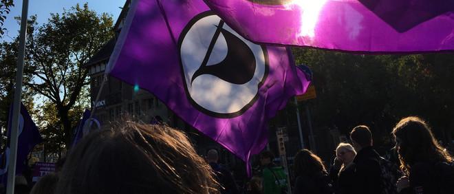 Tijdens een demonstratie tegen TTIP. Foto: Lars Janssen