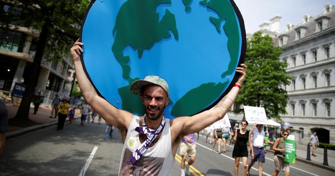 De Peoples Climate March in Washington op 29 april 2017. Foto: Joshua Roberts / Reuters
