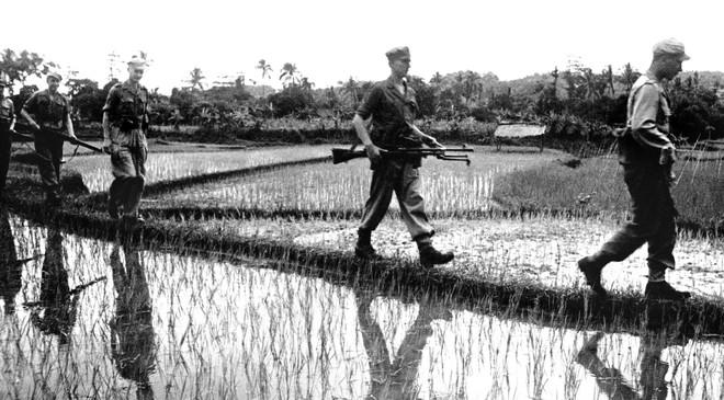 Een Nederlandse patrouille in Indonesië in 1949. Foto: ANP