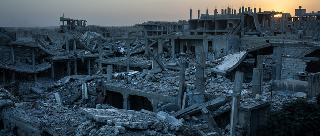 16 oktober 2015, de Syrische stad Kobani. Foto: The Washington Post / Getty Images
