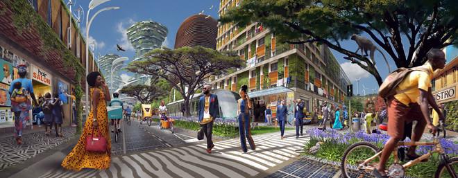 Het voorstel van Blake Robinson en Karl Schulschenk voor een wijze stad.