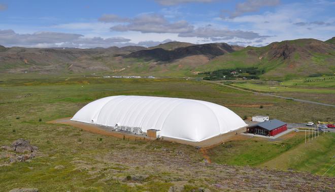 Een airdome in IJsland. Foto: DUOL
