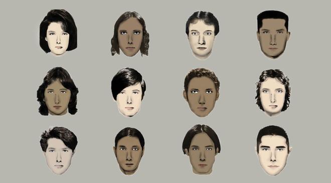 De gezichten die gebruikt worden in de Impliciete Associatie Test