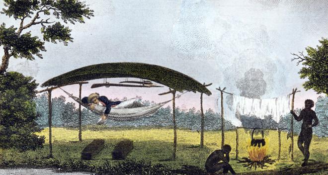 Alle illustraties in dit stuk zijn gemaakt door William Blake, naar de verhalen van John Gabriel Stedman. De Brits-Nederlandse soldaat Stedman moest een opstand van slaafgemaakten de kop indrukken. Na de missie bundelde Stedman zijn verhalen. Het was voor het eerst dat het Westen in beeld met de schokkende praktijken van de slavernij geconfronteerd werd.