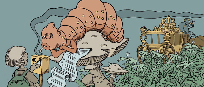 Illustrations by Hans Klaverdijk for De Correspondent