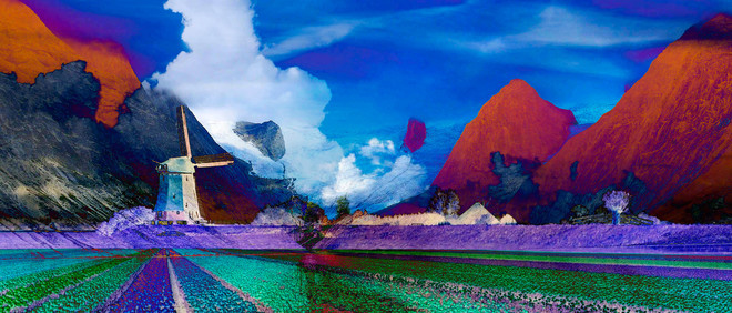 De beelden in dit stuk schetsen een droomwereld waarin Nederlandse en Noorse landschappen in elkaar overvloeien. Foto: Ola Lanko (voor De Correspondent)