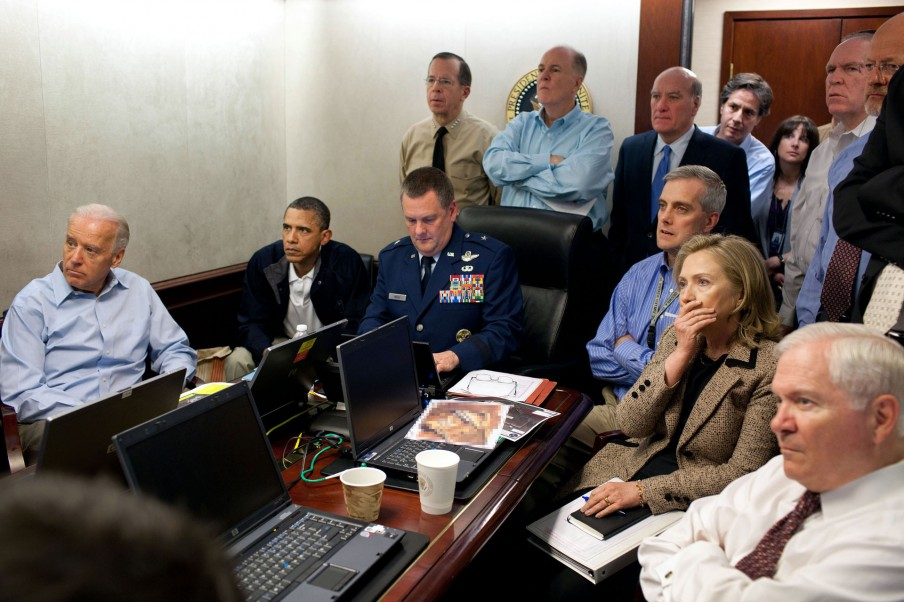 The Situation Room (1 mei 2011). Foto: Pete Souza/the White House
